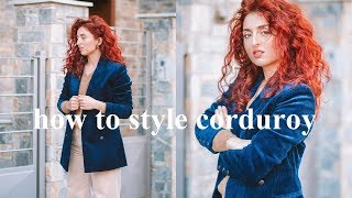 How to Style Corduroy | 5 OUTFITS