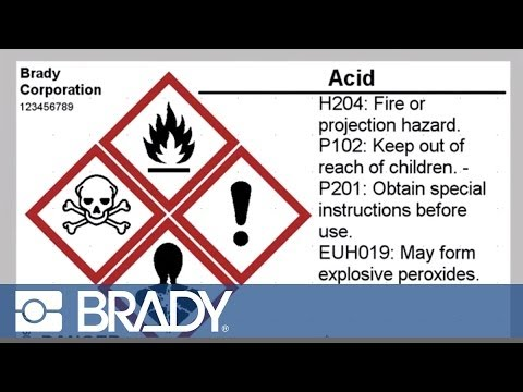 brady label templates - making a globally harmonized system ghs label in