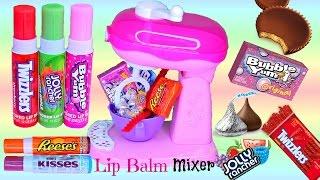 Magical LIP BALM Mixer! Turns Candy into LIP BALM! Jolly Rancher Bubble YUM Twizzlers! FUN