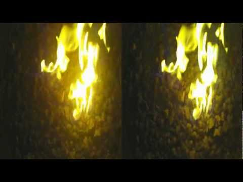 Fire Pit in 3D, Shot with Bloggie 3D (YT3D:Enabled=True)