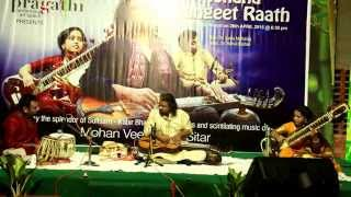 Poly Varghese - poly varghese playing mohan veena