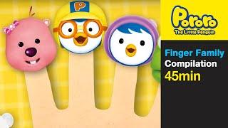 Finger Family and More (45min) | Nursery Rhymes | pororo finger family| Pororo The Little Penguin