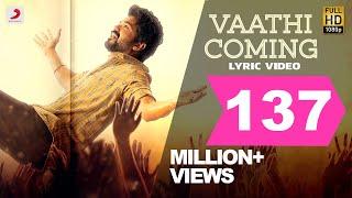 Master - Vaathi Coming Lyric   Thalapathy Vijay   Anirudh Ravichander   Lokesh Kanagaraj
