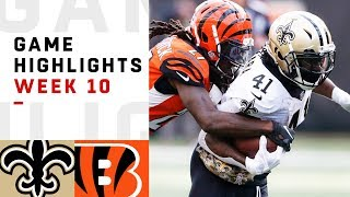Saints vs. Bengals Week 10 Highlights | NFL 2018