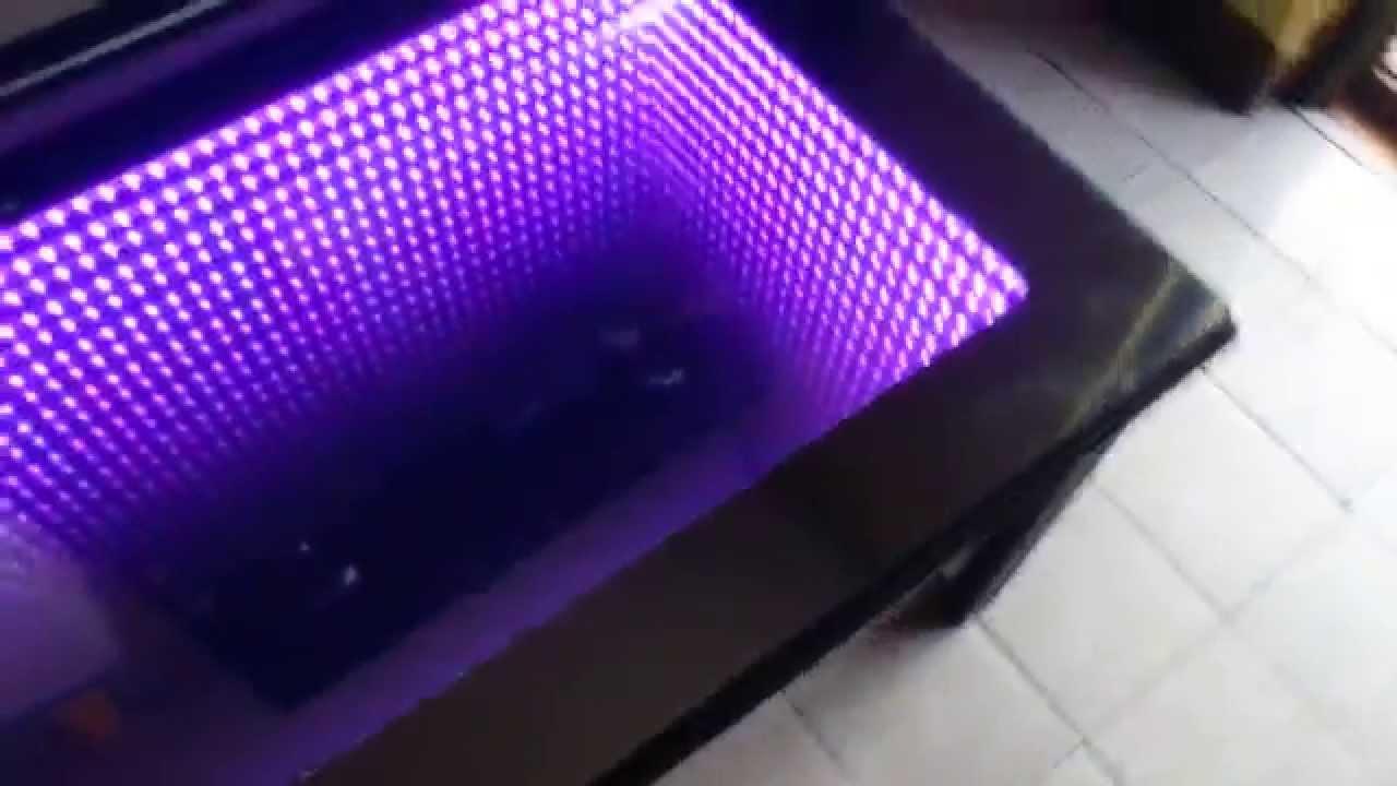 Infinity Mirror Table Youtube