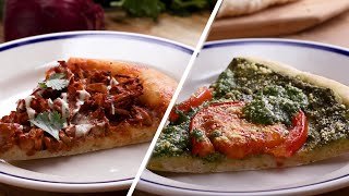 Vegan Pizza 2 Ways: Pesto Pizza And Jackfruit Pizza • Tasty