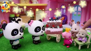 Baby Panda Makes A Big Birthday Cake for Miumiu | Play Doh for Kids | Toy Story | ToyBus