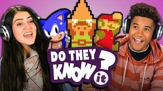 DO TEENS KNOW CLASSIC VIDEO GAME THEMES? (REACT: Do They Know It?)