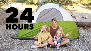 TAKING MY DAUGHTERS CAMPING IN THE MIDDLE OF THE WOODS FOR 24 HOURS
