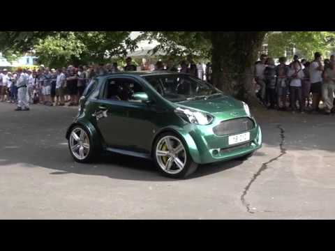 Aston Martin Cygnet V8 Climbs Goodwood