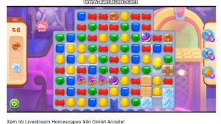 Homescapes - Level 110 - Super Hard - I win on my first try and get a gold medal ^_^