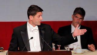 Speaker Paul Ryan roasts Donald Trump at charity dinner