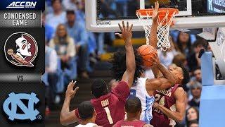Florida State vs. North Carolina Condensed Game | 2018-19 ACC Basketball Highlights
