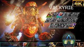 "New Apex Legends Valkyrie Launch Bundle Birthright Skin Intro Animation! ""#4K"
