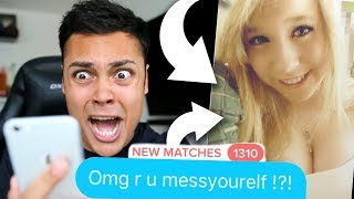 REACTING TO MY TINDER !!! (OMG I GOT RECOGNIZED)
