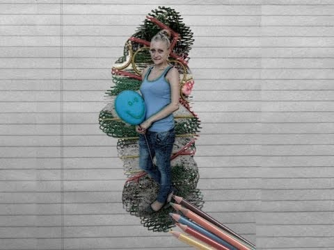 эффект рисунка карандашом: