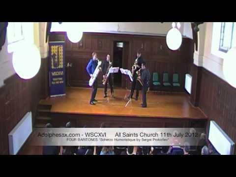 WSCXVI FOUR BARITONES   Scherzo Humoristique by Sergei Prokofiev