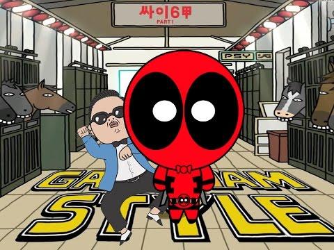 Deadpool vs Gangnam Style   PSY Parody
