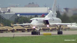 TU-22М3 Backfire Taxi and Takeoff from MAKS-2017