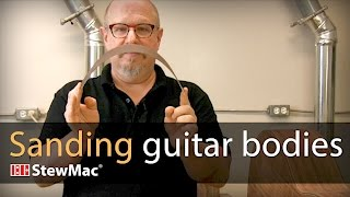 Watch the Trade Secrets Video, Michael Greenfield shows how to sand guitar bodies
