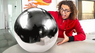 WORLDS BIGGEST MIRROR POLISHED FOIL BALL! - Japanese Foil Ball Challenge
