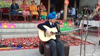 Student singing beautiful Song on Guitar Sri Guru Harkrishan Public School Golden Avenue Amritsar