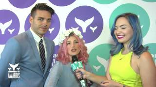 Mr. Kate's Teal Carpet Interview at the Shorty Awards