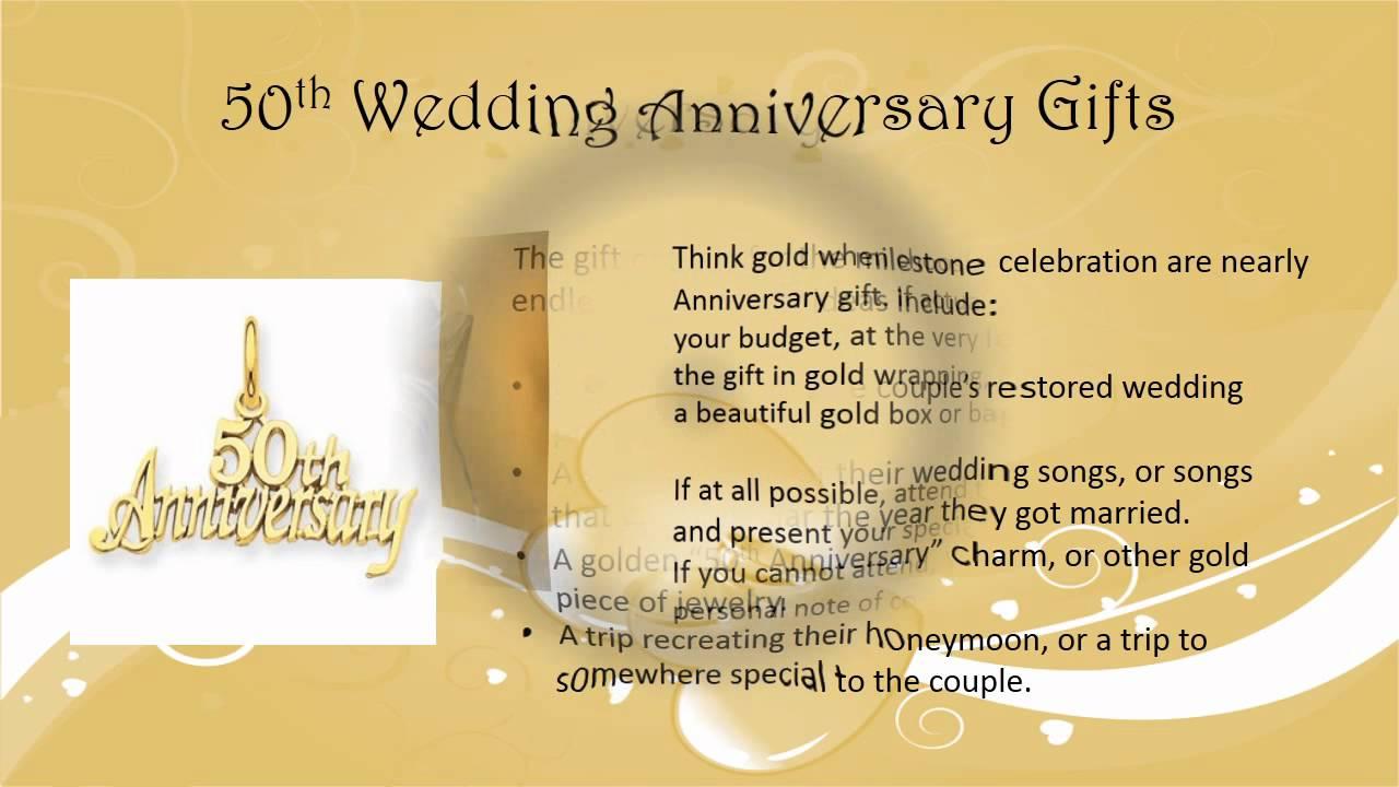 50th Wedding Anniversay Gifts: 50th Wedding Anniversary Gift Ideas