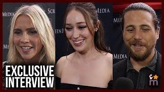 Alycia Debnam-Carey, Claire Holt & Ben Robson Talk American Accents & 'A Violent Separation'