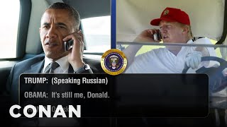 Trump Telephones Obama Days Before His Inauguration  - CONAN on TBS
