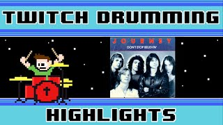 Journey - Don't Stop Believing (Drum Cover) -- The8BitDrummer
