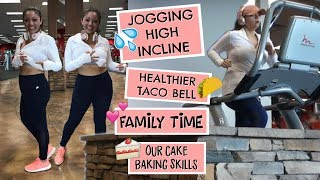 Jogging HIGH INCLINE | Healthier Taco Bell | Family Time | PRO Baking Skills | Interval Training