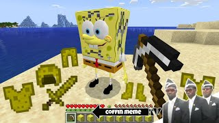 What if you Break Spongebob Block in Minecraft - Coffin Meme