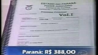 Reportagem exibida no CNT Jornal sobre a proposta de majoração das custas no Estado do Paraná