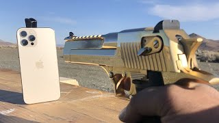 iPhone 12 Pro Max vs 50Cal Desert Eagle