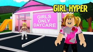 This DAYCARE Was GIRLS ONLY.. So I Went UNDERCOVER!! (Roblox)