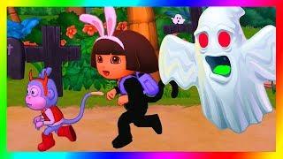 Dora the Explorer Games to Play Cartoon ➤ Dora's Halloween Parade and Friends!