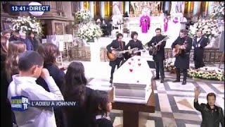 Les musiciens de Johnny Hallyday reprennent