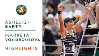 Ashleigh Barty vs Marketa Vondrousova - Final Highlights   Roland-Garros 2019