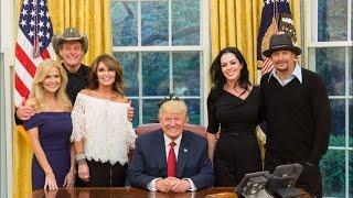 Kid Rock Takes New Fiancée to Meet Donald Trump at the White House — with Ted Nugent and Sarah Palin