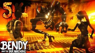 *SECRET ENDING* TOM AND ALICE FIGHT BENDY! | Bendy and the Ink Machine [Chapter 5] Hacking & Secrets