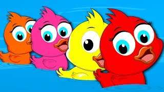 Colorful Ducks Song | Learn Colors in Urdu | رنگین بتھ | Best Rhymes for Kids