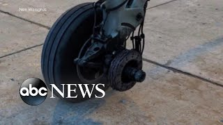 Viral Video: Plane wheel falls off during take-off..