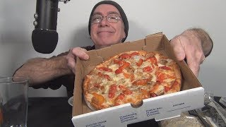 ASMR Eating a Fenway Pizza, Salad and Baklava Whispering