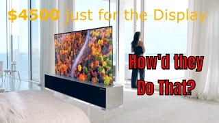 COST of LG's new Roll-Up 4K OLED TV. Price & the Technology behind it.