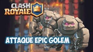 CLASH ROYALE EPIC GAMEPLAY GOLEM