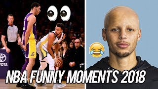 NEW Funny NBA Moments 2018 (Steph Curry, Lebron James, Lonzo Ball, Giannis, Westbrook..)