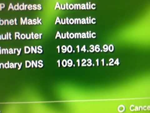 how to change dns on ps3 for american netflix