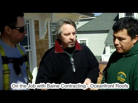 Oceanfront Residential Roofs in Ocean and Monmouth County - On the Job with Baine Contracting