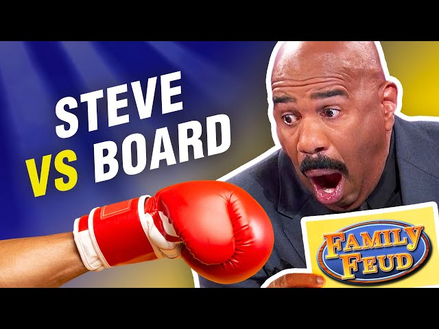 Steve Harvey defeated by the board on Family Feud!...